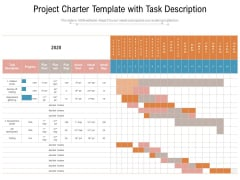 Project Charter Template With Task Description Ppt PowerPoint Presentation File Deck PDF