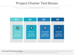 Project Charter Text Boxes Ppt Slides