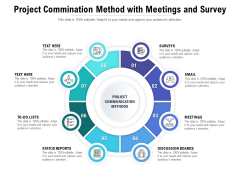 Project Commination Method With Meetings And Survey Ppt PowerPoint Presentation Professional Diagrams PDF