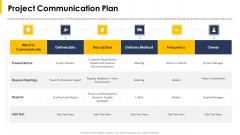 Project Communication Plan Ppt Portfolio Infographic Template PDF