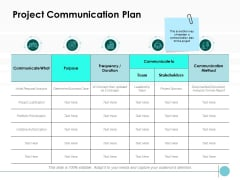 Project Communication Plan Ppt PowerPoint Presentation Introduction
