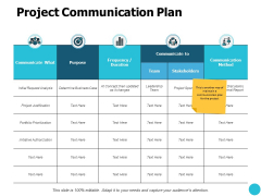 Project Communication Plan Ppt PowerPoint Presentation Layouts Graphic Images