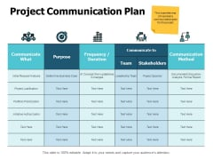 Project Communication Plan Ppt PowerPoint Presentation Outline Themes