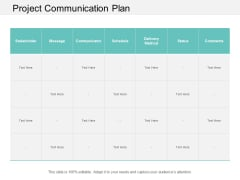 Project Communication Plan Ppt Powerpoint Presentation Professional Smartart