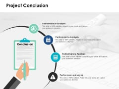 Project Conclusion Ppt PowerPoint Presentation Gallery Graphics Example