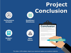 Project Conclusion Ppt PowerPoint Presentation Model Display
