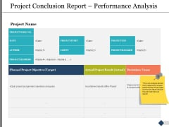 Project Conclusion Report Performance Analysis Ppt PowerPoint Presentation Slides Layout