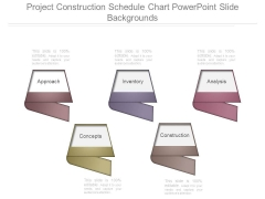 Project Construction Schedule Chart Powerpoint Slide Backgrounds