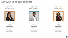 Project Consultation Services Proposal Ppt Slides A Proven Record Of Success Brochure PDF
