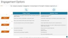 Project Consultation Services Proposal Ppt Slides Engagement Options Guidelines PDF