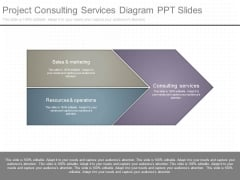 Project Consulting Services Diagram Ppt Slides
