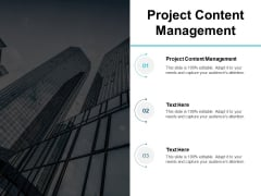 Project Content Management Ppt PowerPoint Presentation Model Vector Cpb