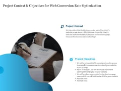Project Context And Objectives For Web Conversion Rate Optimization Topics PDF