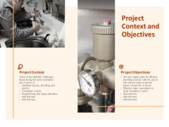 Project Context And Objectives Ppt PowerPoint Presentation Inspiration Background Images