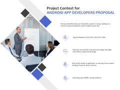Project Context For Android App Developers Proposal Ppt PowerPoint Presentation Styles Ideas