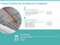 Project Context For Architecture Proposal Ppt PowerPoint Presentation Outline Images