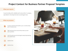 Project Context For Business Partner Proposal Template Ppt PowerPoint Presentation Styles Good