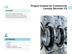 Project Context For Commercial Laundry Services Strategy Ppt PowerPoint Presentation Portfolio Elements