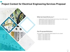 Project Context For Electrical Engineering Services Proposal Ppt Icon Show PDF