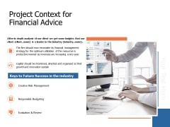 Project Context For Financial Advice Ppt Powerpoint Presentation Ideas Vector