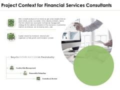 Project Context For Financial Services Consultants Ppt PowerPoint Presentation Inspiration