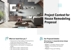 Project Context For House Remodeling Proposal Ppt PowerPoint Presentation Inspiration Introduction