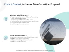 Project Context For House Transformation Proposal Ppt PowerPoint Presentation Summary Graphics Download