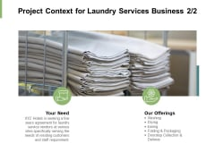 Project Context For Laundry Services Business Management Ppt PowerPoint Presentation Professional Influencers
