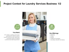 Project Context For Laundry Services Business Marketing Ppt PowerPoint Presentation Inspiration Example Introduction