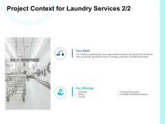 Project Context For Laundry Services Management Ppt PowerPoint Presentation Outline Clipart