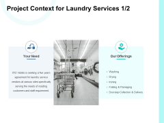 Project Context For Laundry Services Our Offerings Ppt PowerPoint Presentation Outline Smartart