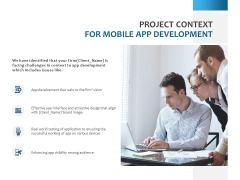 Project Context For Mobile App Development Ppt PowerPoint Presentation Model Inspiration