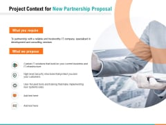 Project Context For New Partnership Proposal Ppt PowerPoint Presentation Inspiration Graphics Tutorials