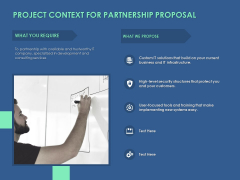 Project Context For Partnership Proposal Ppt PowerPoint Presentation Professional Slide