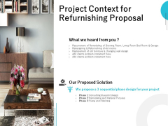 Project Context For Refurnishing Proposal Ppt PowerPoint Presentation Inspiration Show