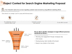 Project Context For Search Engine Marketing Proposal Ppt PowerPoint Presentation Professional PDF