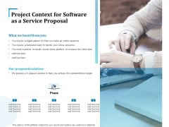 Project Context For Software As A Service Proposal Ppt Infographics Graphic Images PDF
