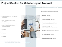 Project Context For Website Layout Proposal Ppt PowerPoint Presentation Summary Tips