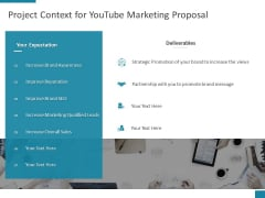 Project Context For Youtube Marketing Proposal Ppt PowerPoint Presentation Icon Display