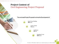 Project Context Of Civil Engineering Project Proposal Development Ppt Gallery Diagrams PDF