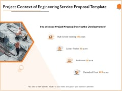 Project Context Of Engineering Service Proposal Template Background PDF