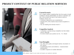 Project Context Of Public Relation Services Ppt PowerPoint Presentation Professional Pictures