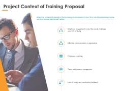 Project Context Of Training Proposal Ppt PowerPoint Presentation Gallery Visuals