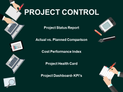 Project Control Project Status Report Ppt PowerPoint Presentation Visual Aids Styles
