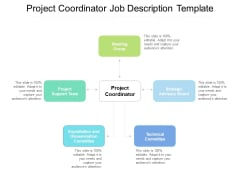 Project Coordinator Job Description Template Ppt PowerPoint Presentation Gallery Icons PDF