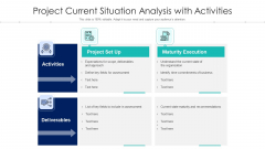 Project Current Situation Analysis With Activities Ppt Summary Layout PDF