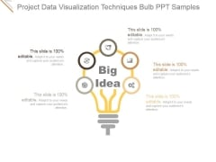 Project Data Visualization Techniques Bulb Ppt PowerPoint Presentation Example File