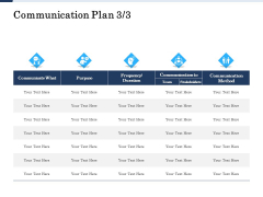 Project Deliverables Administration Outline Communication Plan Team Ppt File Format Ideas PDF