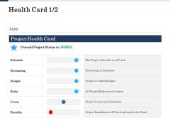 Project Deliverables Administration Outline Health Card Benefits Ppt Portfolio Graphic Tips PDF