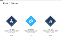 Project Deliverables Administration Outline Post It Notes Ppt Gallery Show PDF